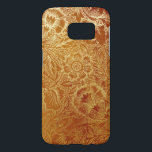 "Tooled Western Leather Southwestern Amber Brown Samsung Galaxy S7 Case<br><div class=""desc"">Tooled Western Leather Southwestern Amber Brown</div>"