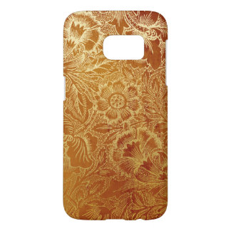 Tooled Western Leather Southwestern Amber Brown Samsung Galaxy S7 Case