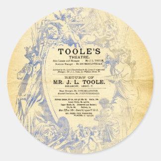 Toole's Theatre Classic Round Sticker