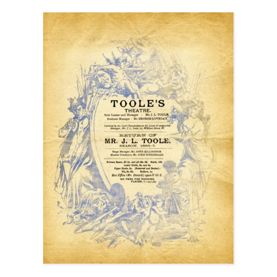 Toole's Theatre Postcard