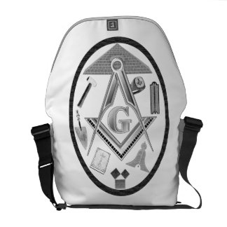 Tools and Symbols of the Freemason Courier Bag