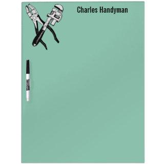 Tools custom monogram & color message board