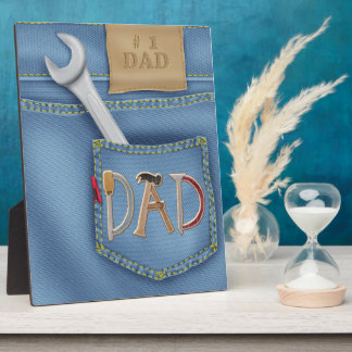 Tools Father's Day Plaque With Easel