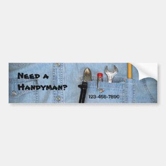 Tools in Pocket Car Bumper Sticker