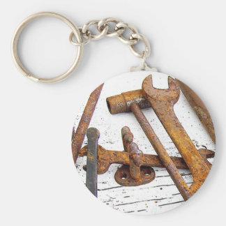 Tools Basic Round Button Keychain