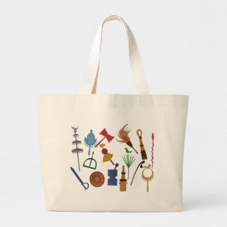 Tools of the Orixás - stock market Large Tote Bag