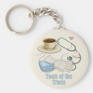 Tools of the Trade Basic Round Button Keychain