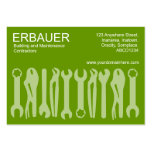 Tools of the Trade (Chubby) - Shades of Green Business Card