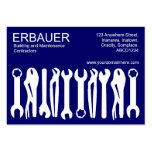 Tools of the Trade (Chubby) - White on Dark Blue Business Cards