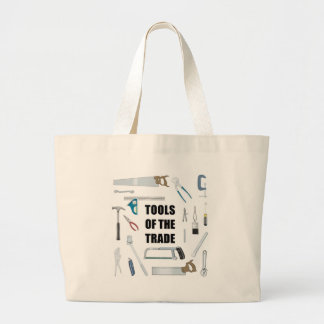 Tools of the trade: Hardware used by handyman Large Tote Bag