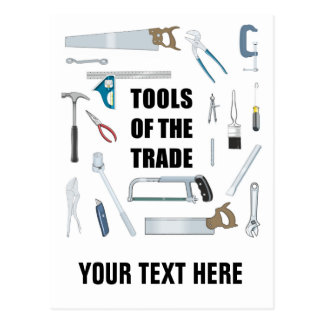Tools of the trade: Hardware used by handyman Postcard