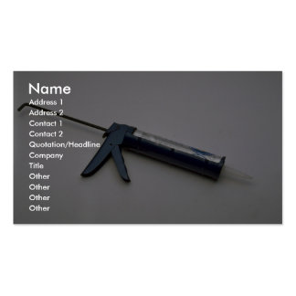 Tools of Trade- Caulking gun Business Cards