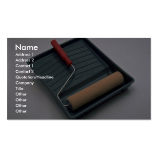 Tools of Trade- Paint roller and pan Double-Sided Standard Business Cards (Pack Of 100)