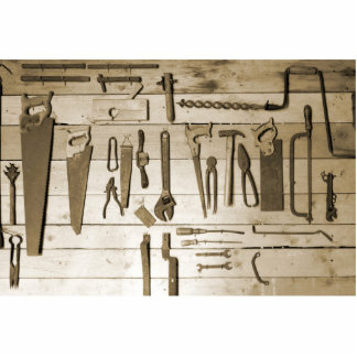 Tools on Wooden Wall Cutout