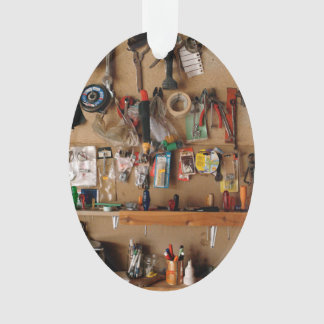Tools on Workshop Wall Ornament