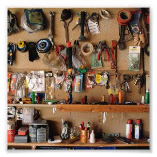 Tools on Workshop Wall Photo Print