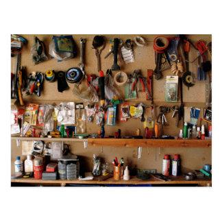Tools on Workshop Wall Postcard
