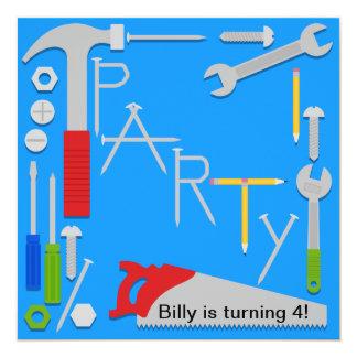 Tools Workshop Birthday Party Invitation
