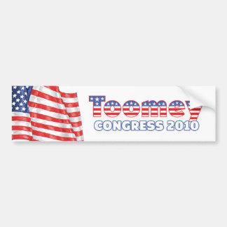 Toomey Patriotic American Flag 2010 Elections Car Bumper Sticker