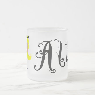 Toon Alice - Alice's Adventures in Wonderland Frosted Glass Coffee Mug