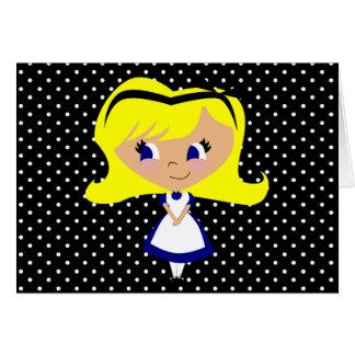 Toon Alice - Alice's Adventures in Wonderland Greeting Card