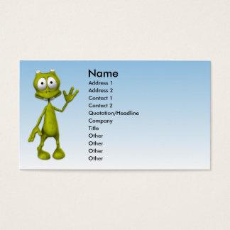 Toon Alien Business Card