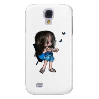 Toon Butterfly Fairy - Blue Galaxy S4 Case