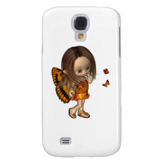 Toon Butterfly Fairy - Orange Galaxy S4 Cover