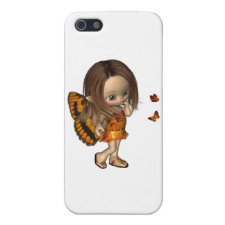 Toon Butterfly Fairy - Orange iPhone SE/5/5s Cover