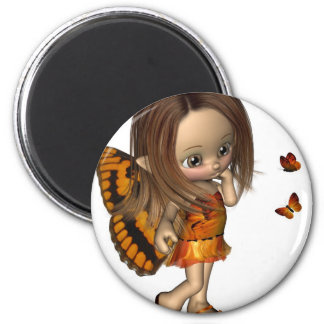 Toon Butterfly Fairy - Orange Magnet