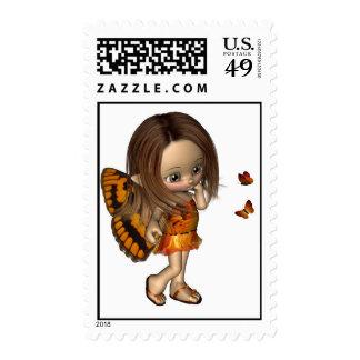 Toon Butterfly Fairy - Orange Postage