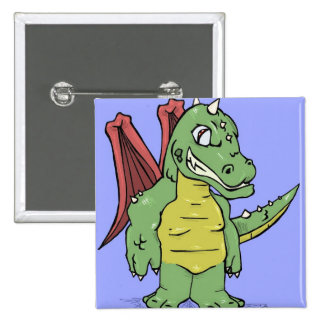 Toon Dragon Pinback Buttons