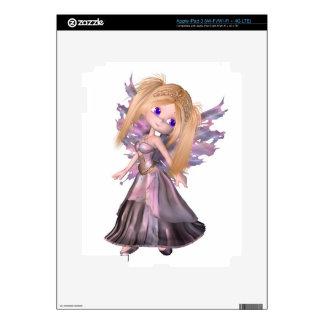 Toon Fairy Princess in Purple Dress iPad 3 Decals