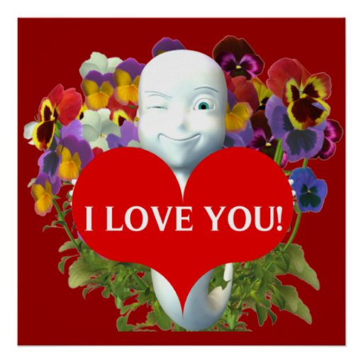 Toon Ghost I Love You Poster