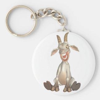 toon goat basic round button keychain