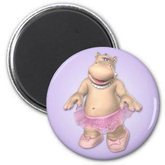 Toon Hippo Magnet