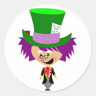 Toon Mad Hatter - Alice's Adventures in Wonderland Classic Round Sticker