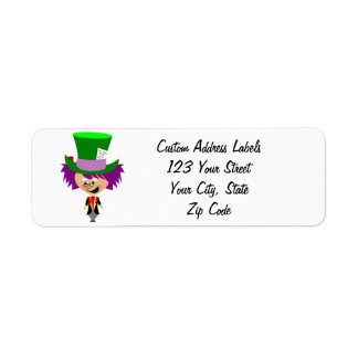 Toon Mad Hatter - Alice's Adventures in Wonderland Label