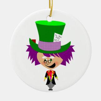 Toon Mad Hatter - Alice's Adventures in Wonderland Christmas Tree Ornaments