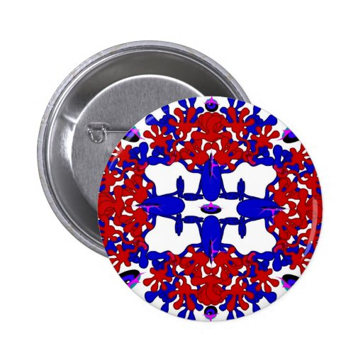Toon Mandala Collection 2 Inch Round Button