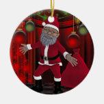 Toon santa adornos de navidad