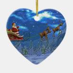 Toon santa ornamento de navidad
