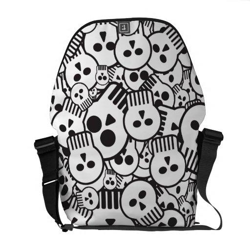 toon skulls courier bags