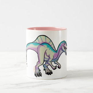 Toon spinosaurus mug. ICE version Two-Tone Coffee Mug