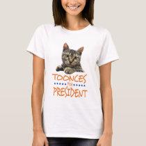 toonces for president light shirt
