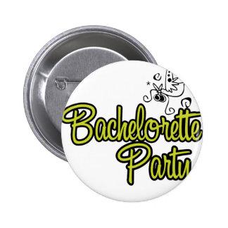 ToonDoveBachelorettePartyYlw Pinback Button