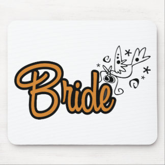 ToonDoveBrideOrng Mouse Pad