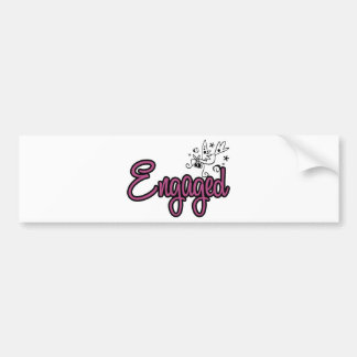 ToonDoveEngagedPink Bumper Stickers