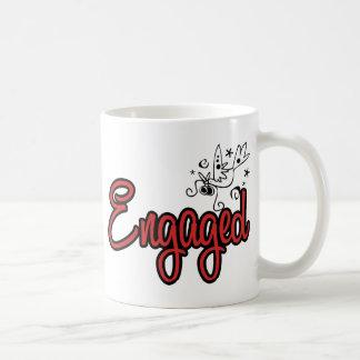 ToonDoveEngagedRed Coffee Mug