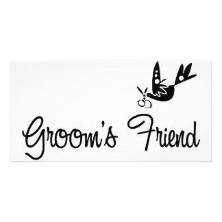 ToonDoveGroomsFriendblk Card